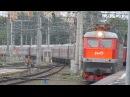 Прибытие ЧС7-074 с поездом№562С Ейск-Москва на Курский вокзал Москвы 2.07.2017