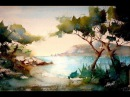 You'll see a simple landscape. Watercolor technic for beginners (or not)