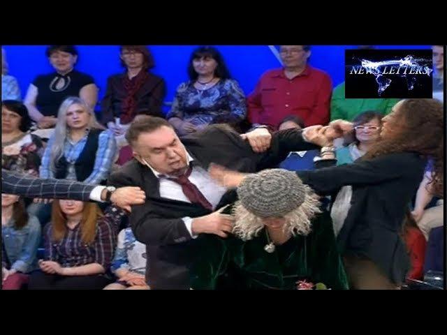 Садальский и Васильева драка в эфире Сегодня вечером 27.05.17