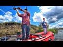 Щука в августе рыбалка с лодки с сыном Ловили щуку на воблеры джерк джиг тролинг и лягушки