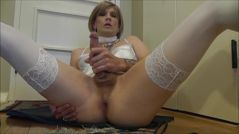 Sissy Strokes in White