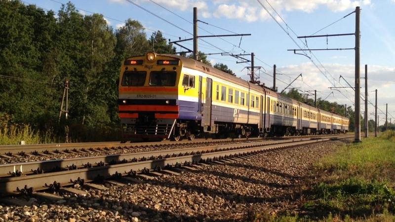 ER2 8029 Электропоезда на елгавском направлении 15 08 17