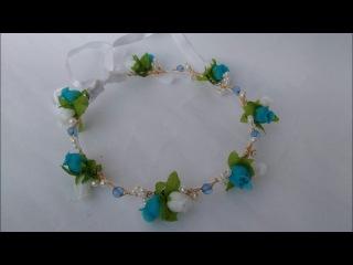 Como fazer coroa de flores - headband com flores e pérolas