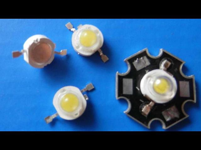 Как запитать мощный диод без резисторов (1W High Power Chip LED)