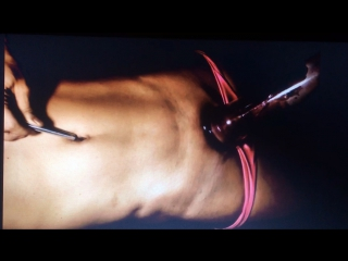 Navel torture with happy ending
