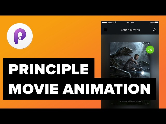 Movie App Design - UIUX Animations Tutorial with Sketch Principle