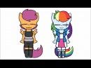 Timelapse Meme Scootaloo and Rainbow Dash