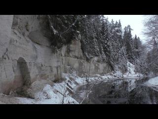 Похождение в скальном каньоне. Старый год в Толмачёво. Скалы на Ящере. Ледостав.