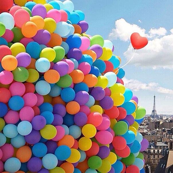 Картинки на день рождения много шариков