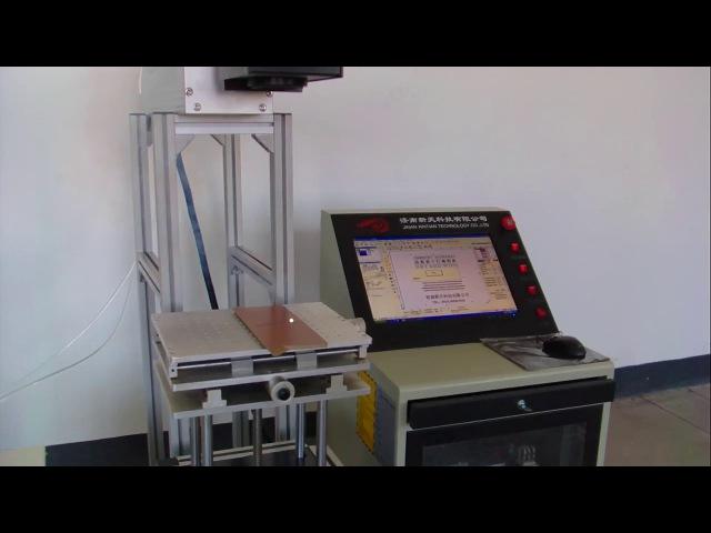 CO2 лазерный маркер RF с гальво сканером для дерева