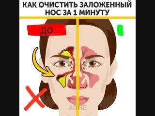 Как очистить заложенный нос за 1 минуту: