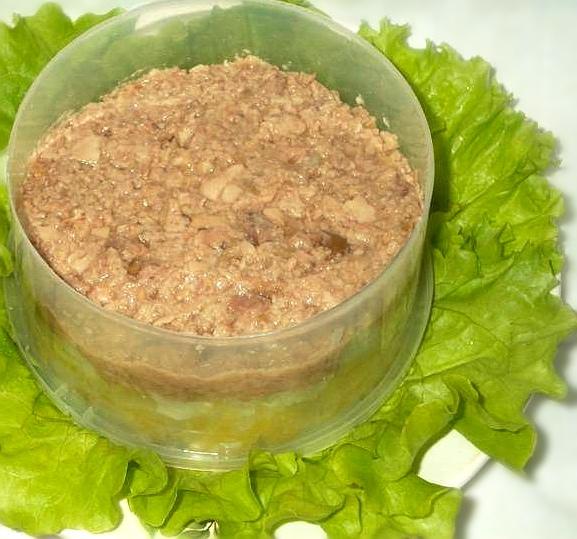 Салат слоями с печенью трески, изображение №4