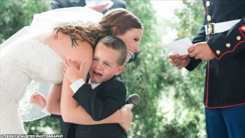 Boy's REACTION To Step Mom Reading Wedding Vows Is Gold
