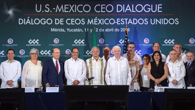 Firma del Acuerdo entre sectores privados de México y Estados Unidos, desde Mérida, Yucatán.