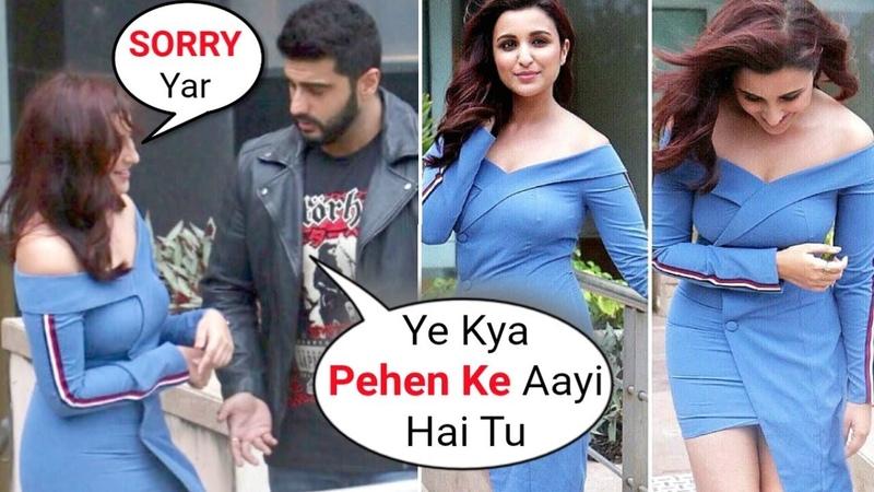 Parineeti Chopra Uncomfortable Dress Moments With Arjun Kapoor At Namastey England Promotion