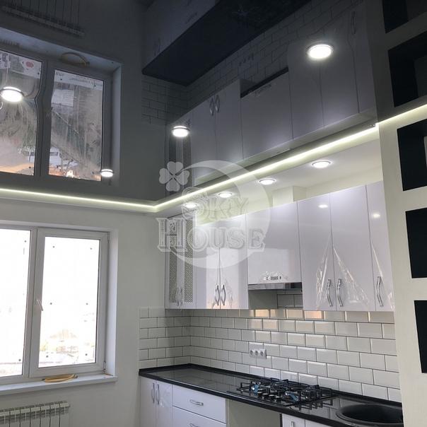 черный натяжных потолков на кухню фото своим уникальным