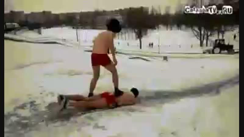Прикольная гифка про зиму