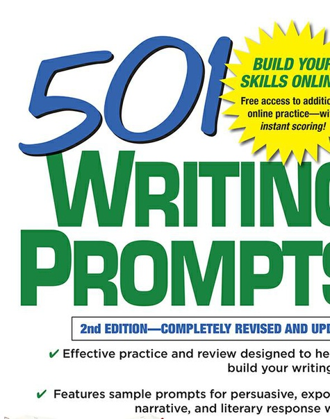 Book cover 501 Writing Prompts by LearningExpress