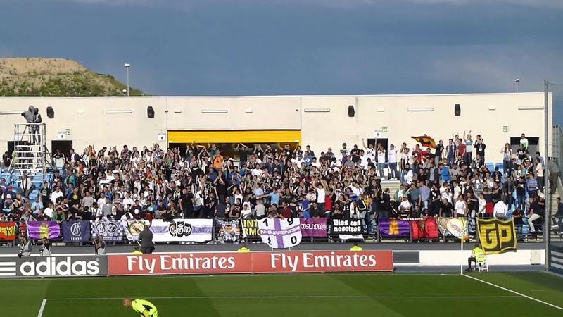 Dale Cavese Ultras Sur en Valdebebas Castilla Sabadell 13 14