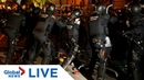 Catalan protests Separatists demonstrate near Spanish government building LIVE
