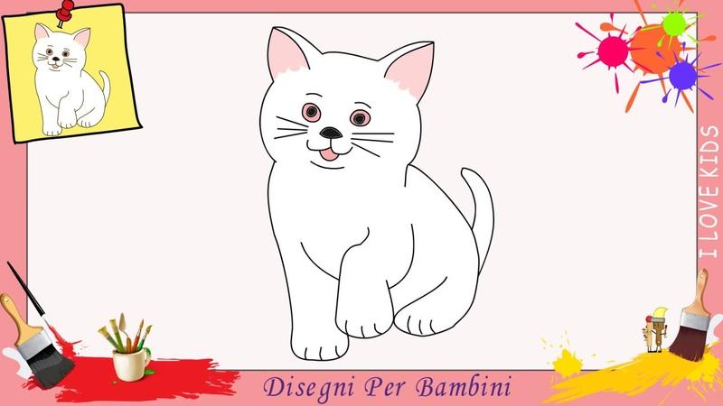 Disegni di gatti Come disegnare un gatto FACILE passo per passo per bambini