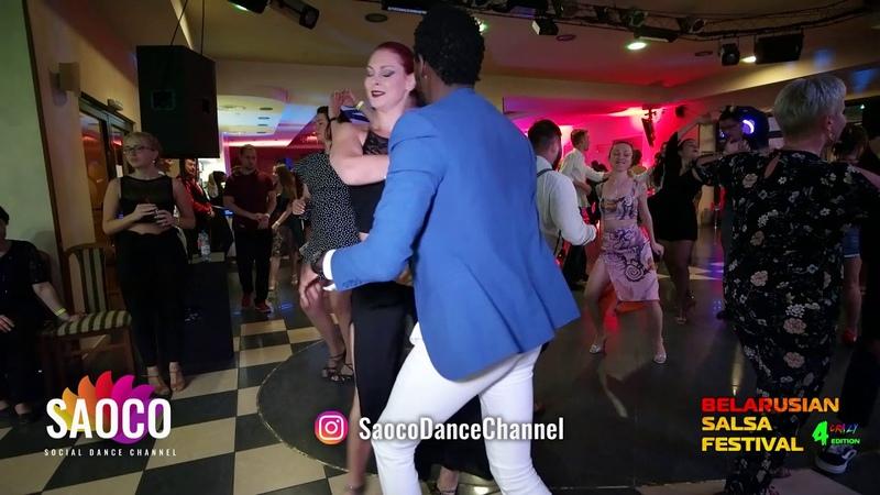 Tamba Salsaché and Kseniya Kozlovskaya Salsa Dancing at Belarusian Salsa Festival 2018, Sat 29.09.18