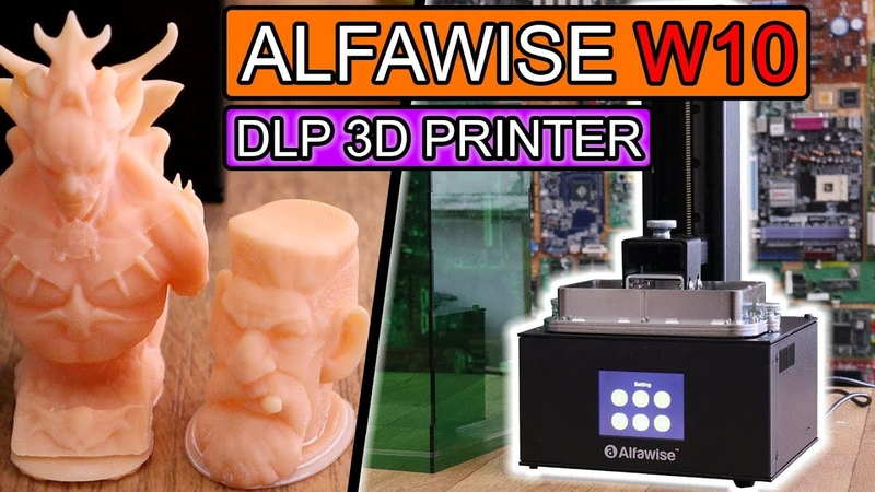 ALFAWISE W10 review - DLP 3D printer LOW COST