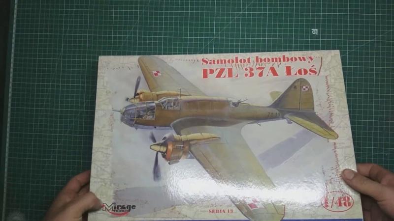 Обзор PZL 37A Los от Mirage Hobby