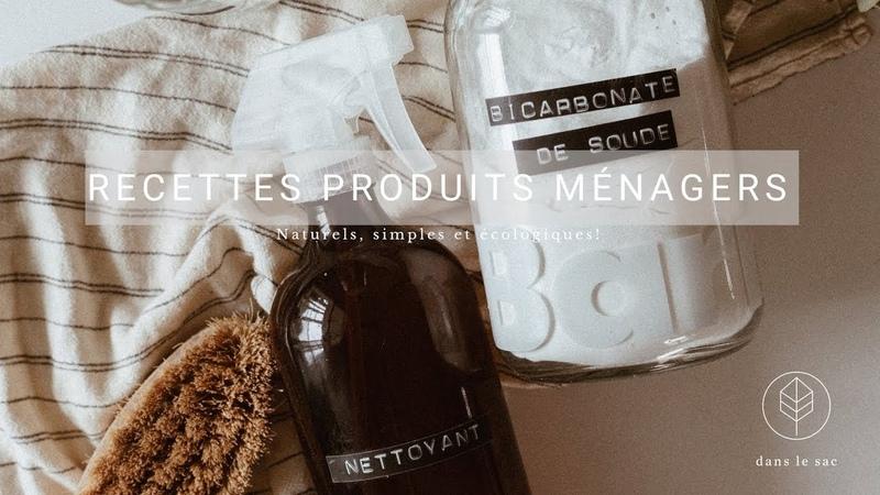 Recettes produits ménagers -Nettoyant tout usage et crème à récurer