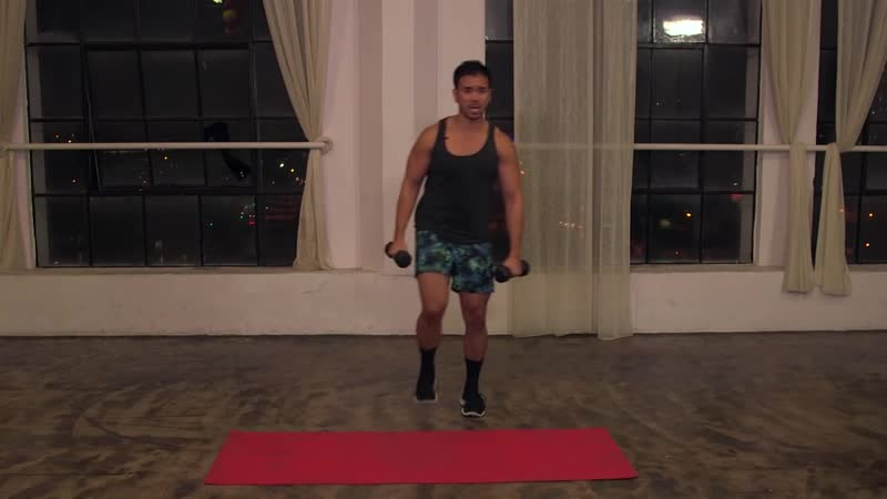 15 Minute HIIT Hardcore Bootcamp Workout with Weights Mike Donavanik MikeDFit