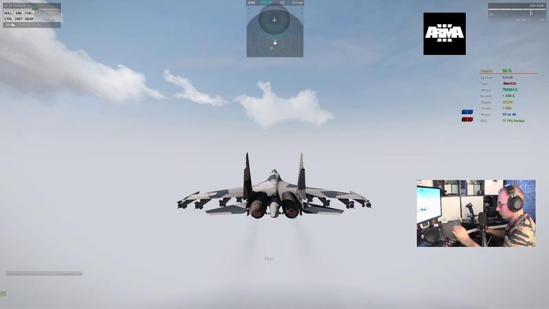 ArmA 3 Warfare RHSCUP server уничтожение базы противника СУ-35 - КАБ-500Л