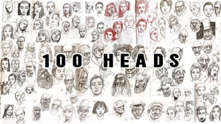 Drawing 100 Heads in 10 Days // 100 Heads Challenge Meds100Heads