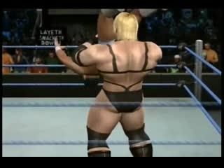 Intergender wrestling massive muscular heel Heather Baxter vs Ryan King at the Amazon Club