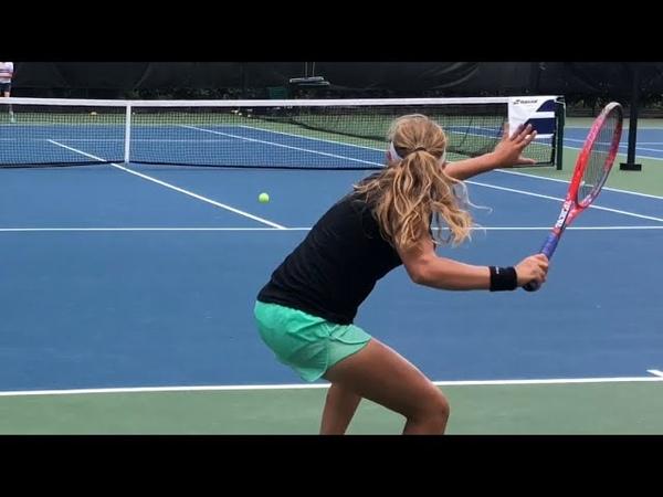 Tennis Training Coach Dabul with Flor Urrutia soon D1 college player Nadal Federer Murray drills
