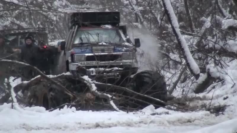 4х4 Шишига газ 66 vs Toyota Бомба арочные колеса я170