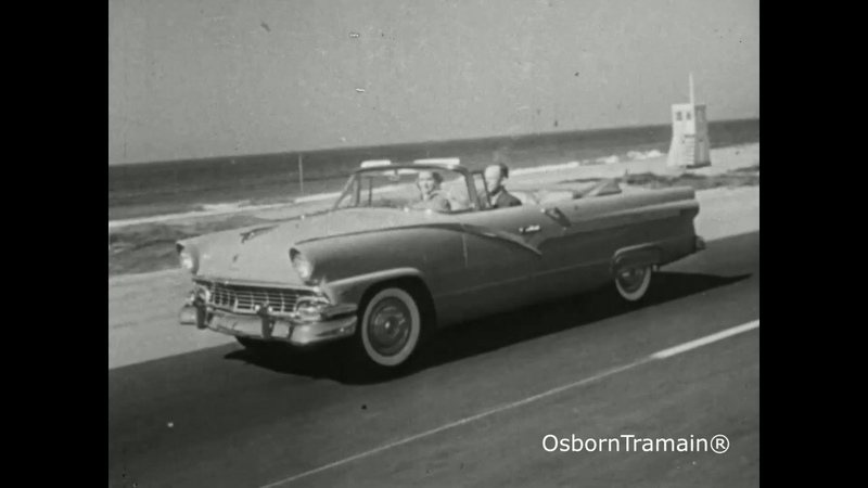 B.F. Goodrich Commercial featuring a 1957 and 1956 Ford