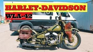 Реставрация Мотоцикла Harley-Davidson WLA-42. ПОЛНЫЙ ОБЗОР.