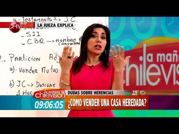 La Jueza explica ¿Cómo vender una casa heredada - MATINAL DE CHV