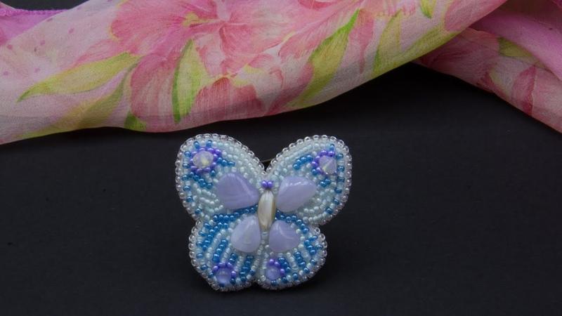 Пошаговый мастер класс по изготовлению броши бабочки из бисера