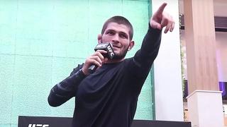ХАБИБ НА ОТКРЫТОЙ ТРЕНИРОВКЕ ПЕРЕД UFC 242 / ОТВЕТЫ НА ВОПРОСЫ