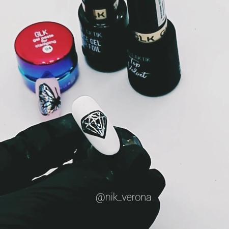 оф. предст. тм Мойра love on Instagram: алмаз База гель для фольги gellaktik foil от @tarti