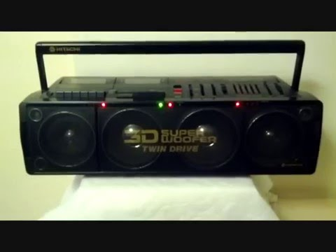 HITACHI '3D SUPER WOOFER' Boombox (1988) - Sound Test