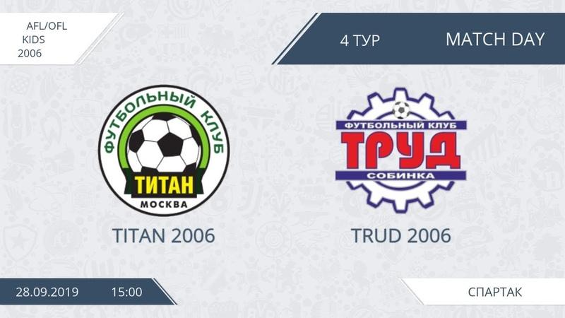 AFL Kids 2006 Day 4 Titan 2006 Trud 2006