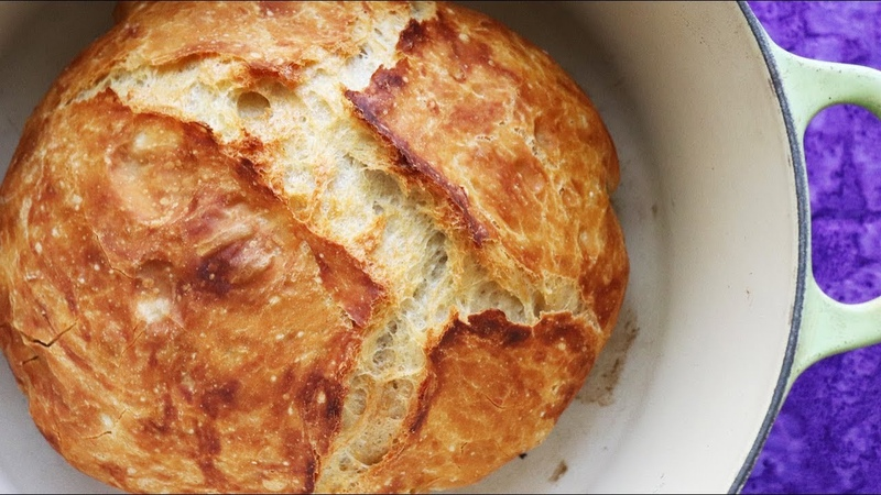 Faster No Knead Bread So Easy ANYONE can make but NO BOILING WATER