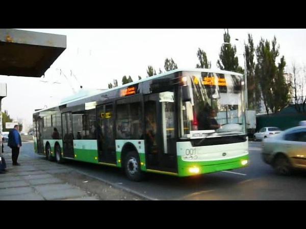 Trolleybus Bogdan T801 001 in Kiev Троллейбус Богдан Т801 в Киеве