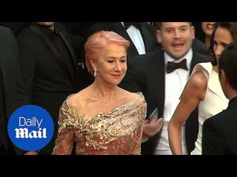 Helen Mirren looked sensational with new pink hairdo in Cannes