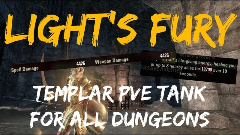 Light's Fury PvE Templar Tank Build For All Dungeons ESO Scalebreaker