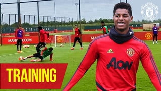 Training | The Reds step up the intensity ten days out from our return to action | Manchester United