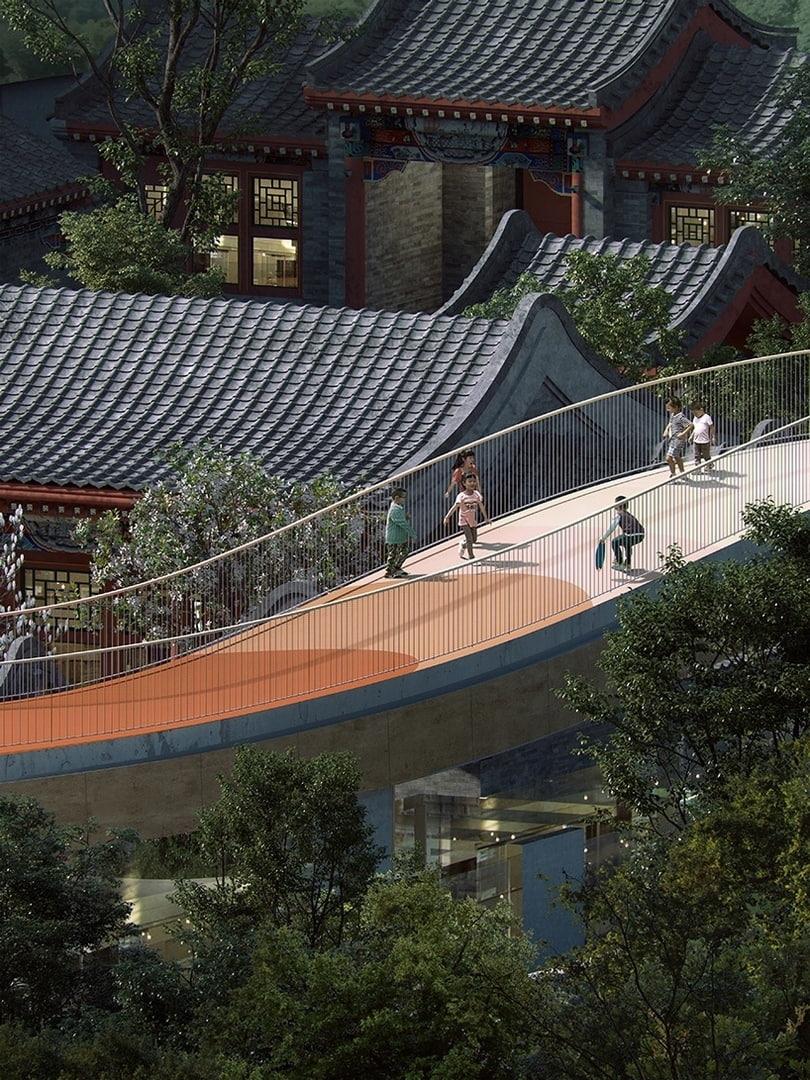 Архитекторы MAD превратят традиционный китайский дворик в детский сад с плавающей крышей