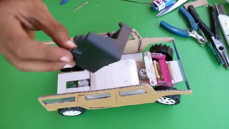 WOW Super RC Hummer Car How to make RC Hummer Car out of paper Simple 9v Battery DIY at home